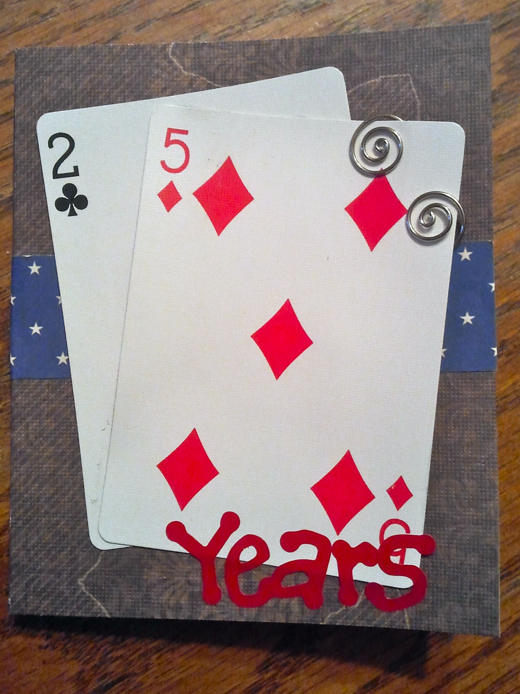 Birthday card made with the age from playing cards Would be cute – Themed Birthday Cards