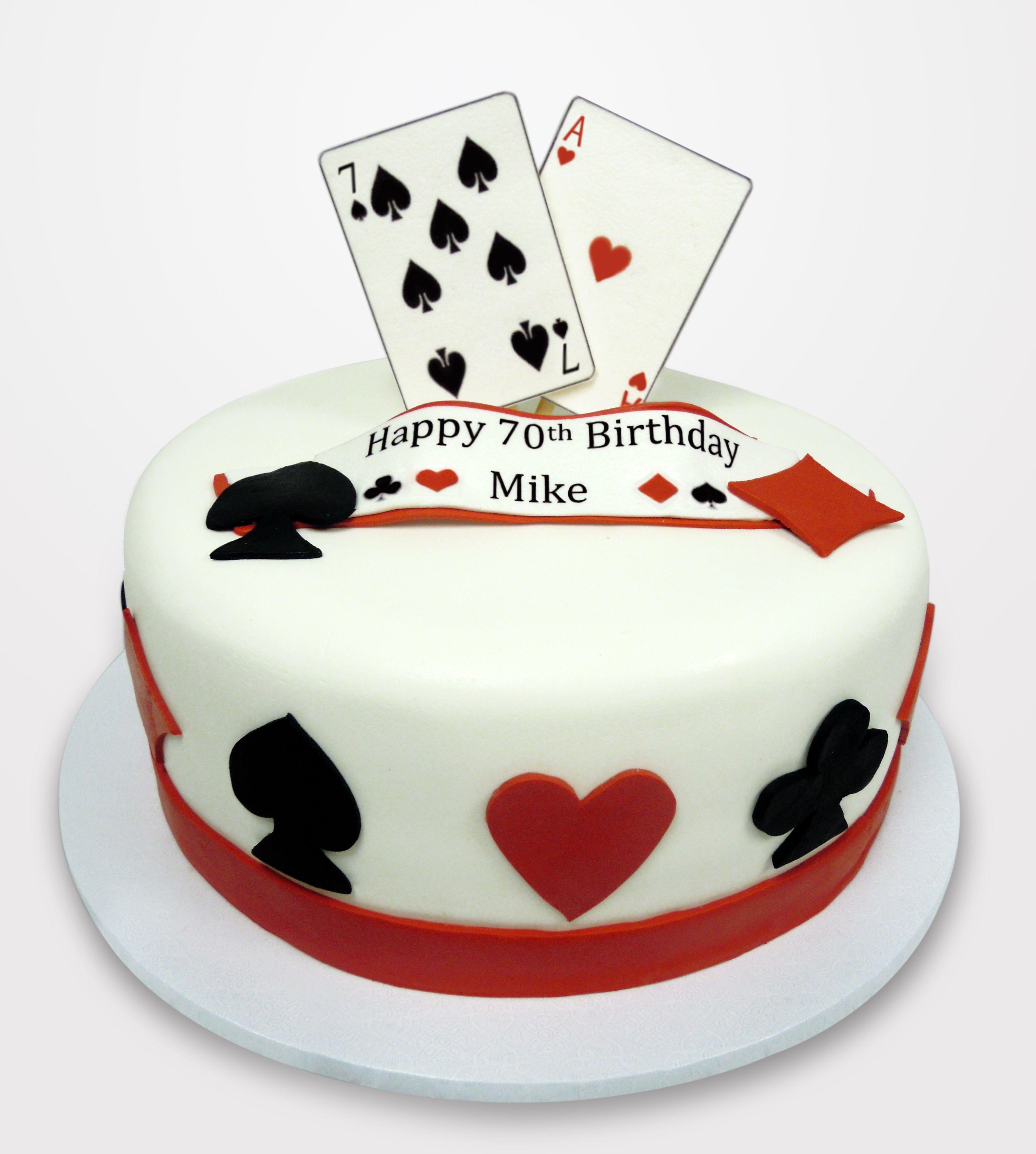 Playing Card Birthday Cake  Birthday Cakes    Card