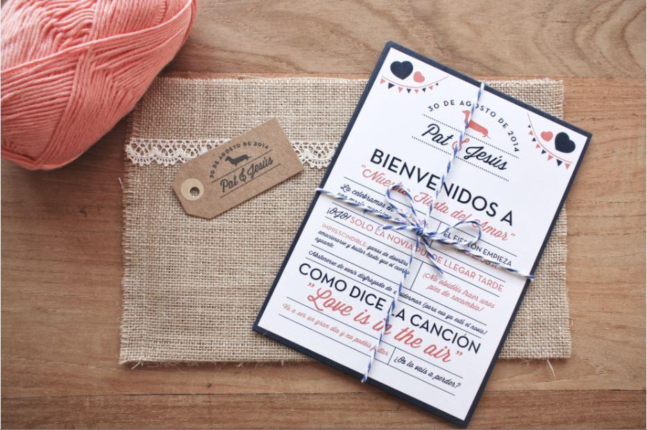 Idea 2 invitación de Boda Ideas para mi boda Pinterest Wedding - invitaciones para boda originales