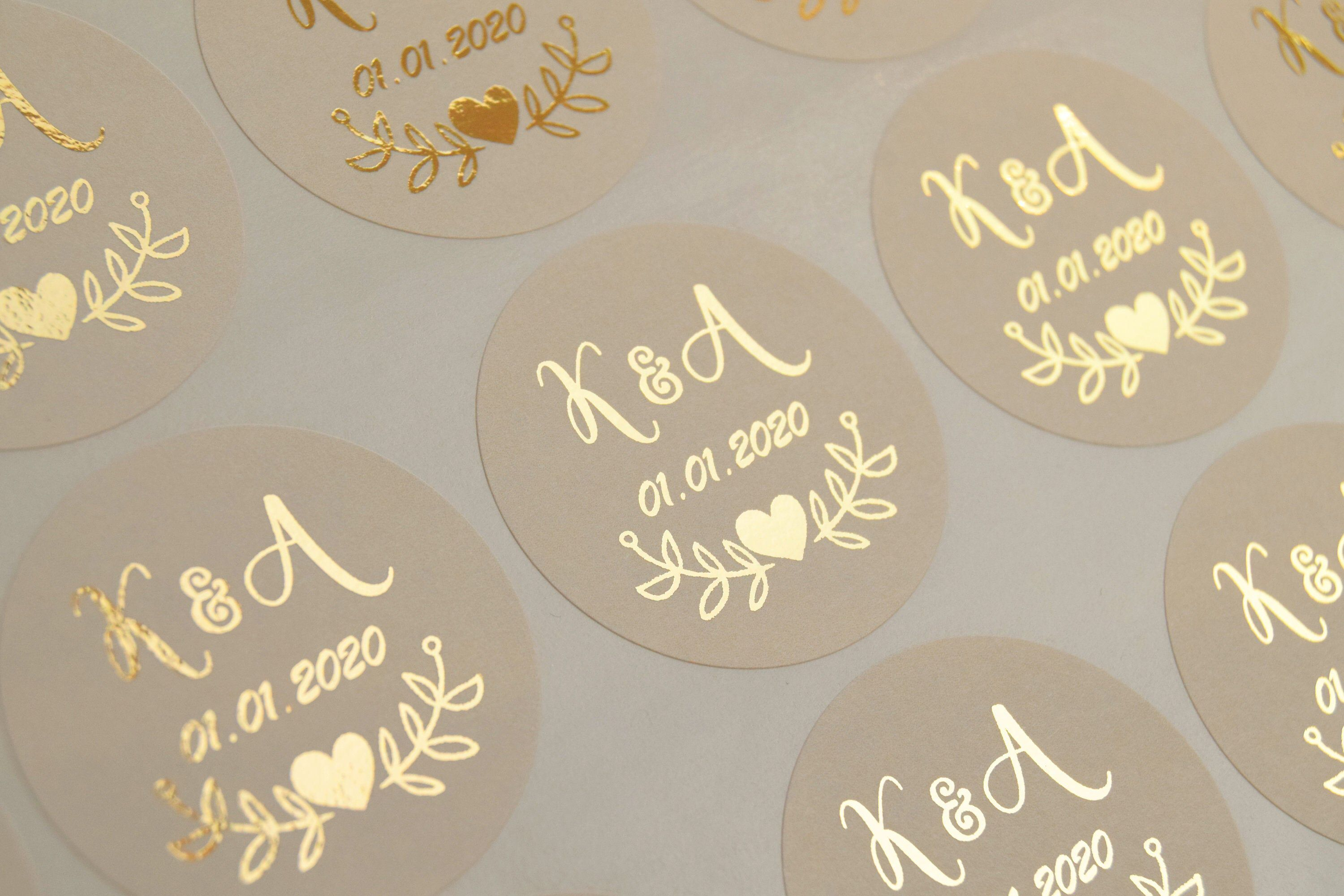 Ivory Wedding Stickers Ivory Gold Stickers Cream Favour Stickers Ivory Envelope Seals Foil Invitation Stickers Cream Favor Labels D7 Wedding Stickers Foil Invitations Wedding Favor Labels