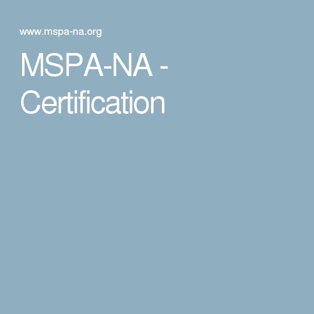Mspa Na Certification Jobs Pinterest