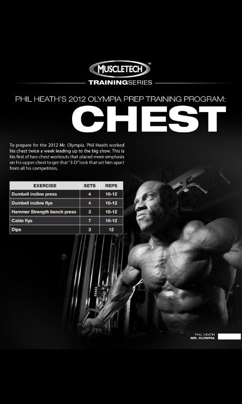 Phil Heath 2012 Olympia prep Traning (Chest) Day #2 | Muscle Pharm