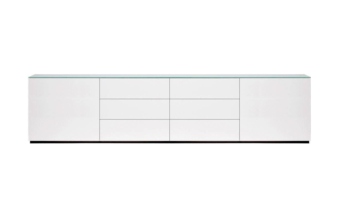 arctic sideboard 240 cm hochglanz wei white sideboard pinterest skandinavischer stil. Black Bedroom Furniture Sets. Home Design Ideas