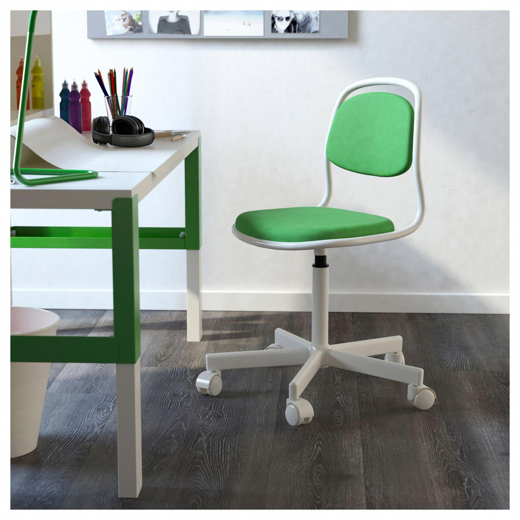 Superb Ikea Orfjall Childs Desk Chair White Vissle Bright Green Gmtry Best Dining Table And Chair Ideas Images Gmtryco