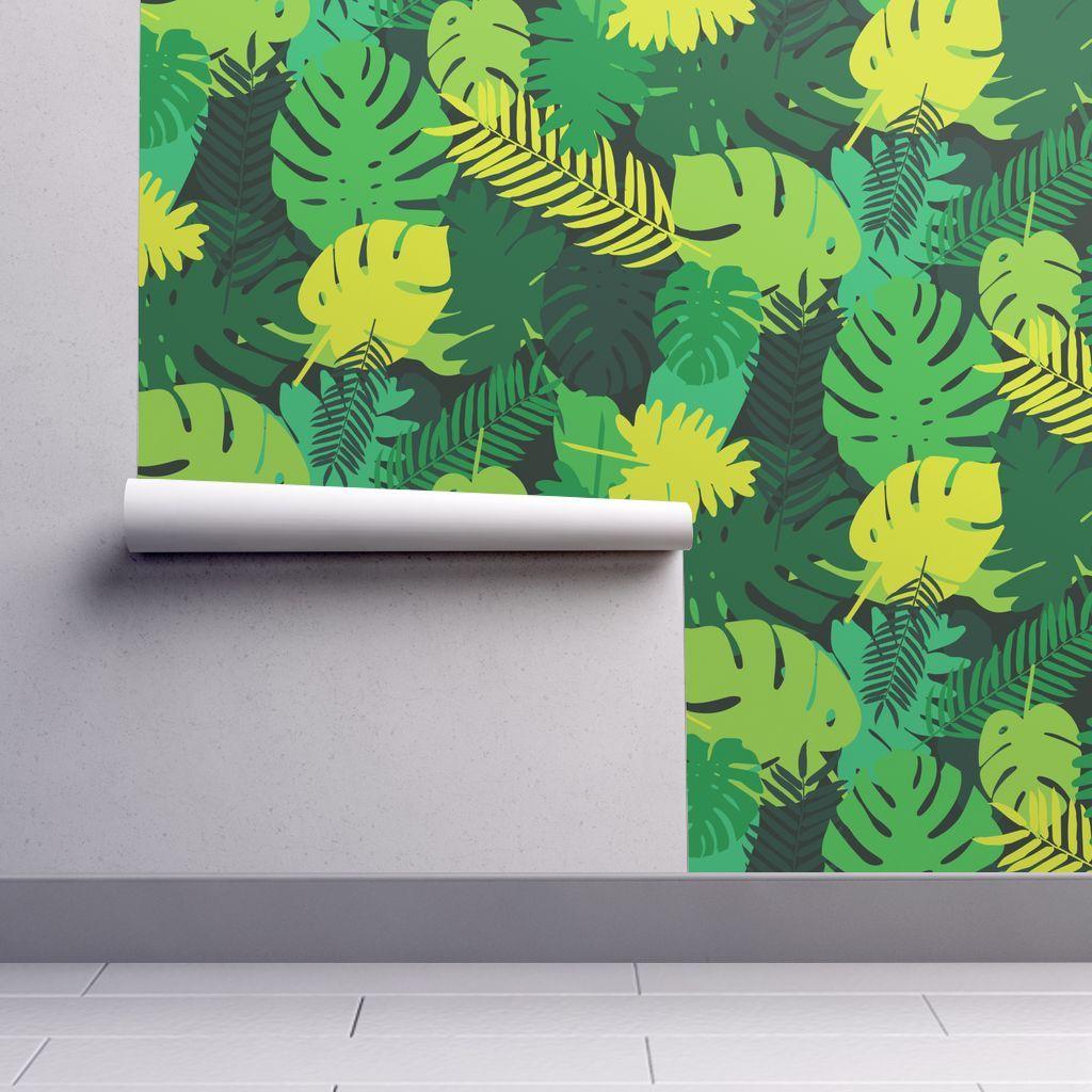 Tropical Leaves Spoonflower Tiki Room Tropical Leaves Tropical