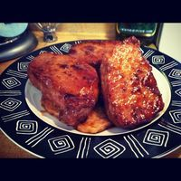 Sweet and Spicy Pork Chops-Made these for the hubbie last night and he was INLOVE