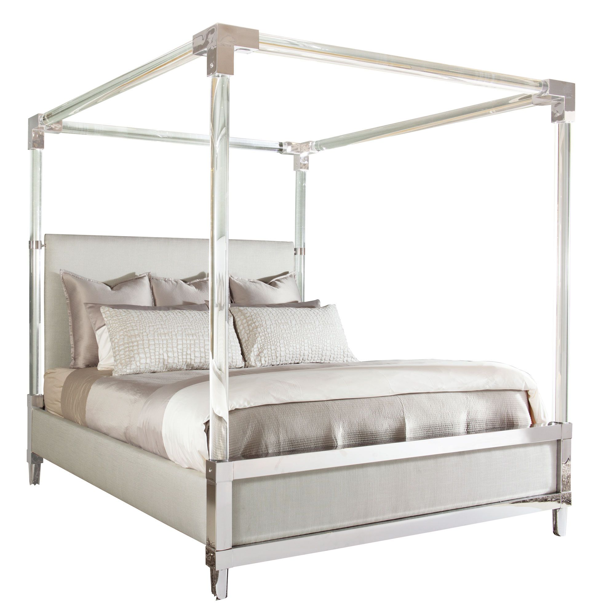 Acrylic Canopy Bed Bernhardt With Images Canopy Bedroom