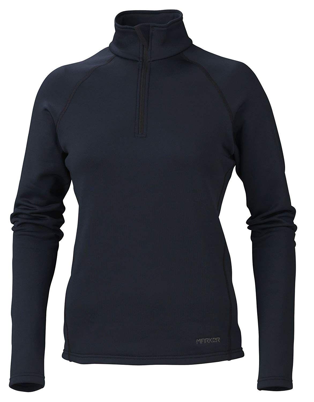 Women's Loveland 1/2 Zip Jacket - Black - CR11L8T5ZN1 - Sports & Fitness Clothing, Women, Base Layer...