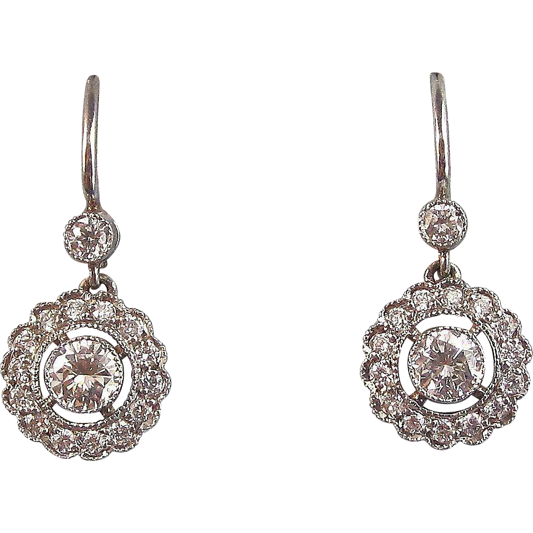 Ruby Wedding Gifts John Lewis: Estate Wedding Birthstone Anniversary Diamond Dangle