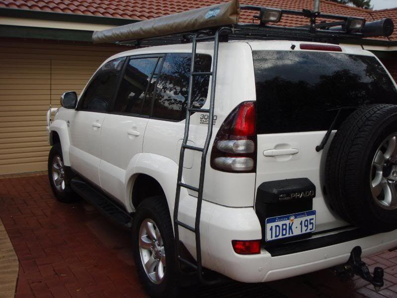 Tracklander Roofrack Awning Ladder Toyota Land Cruiser Prado Prado Land Cruiser