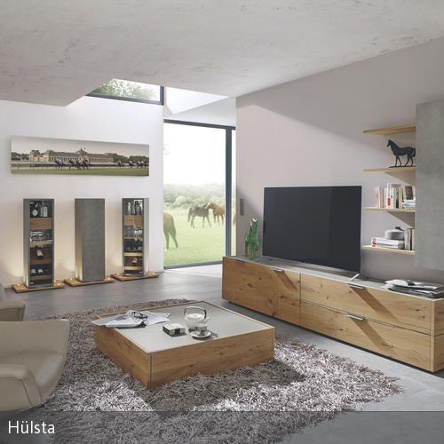Wohnwand in beton und holzoptik in 2019 wohnzimmer for Wohnwand holzoptik