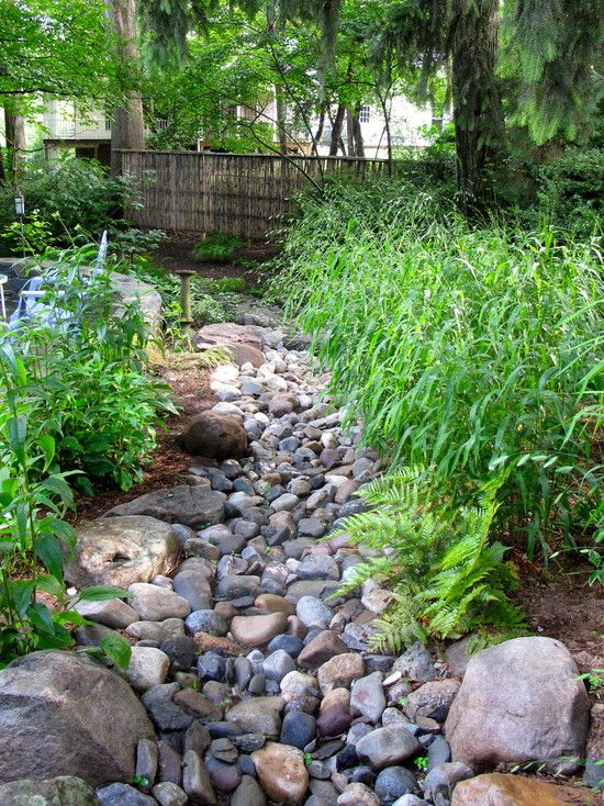 DIY Dry Creek Bed Ideas for your landscape. Beautiful ways