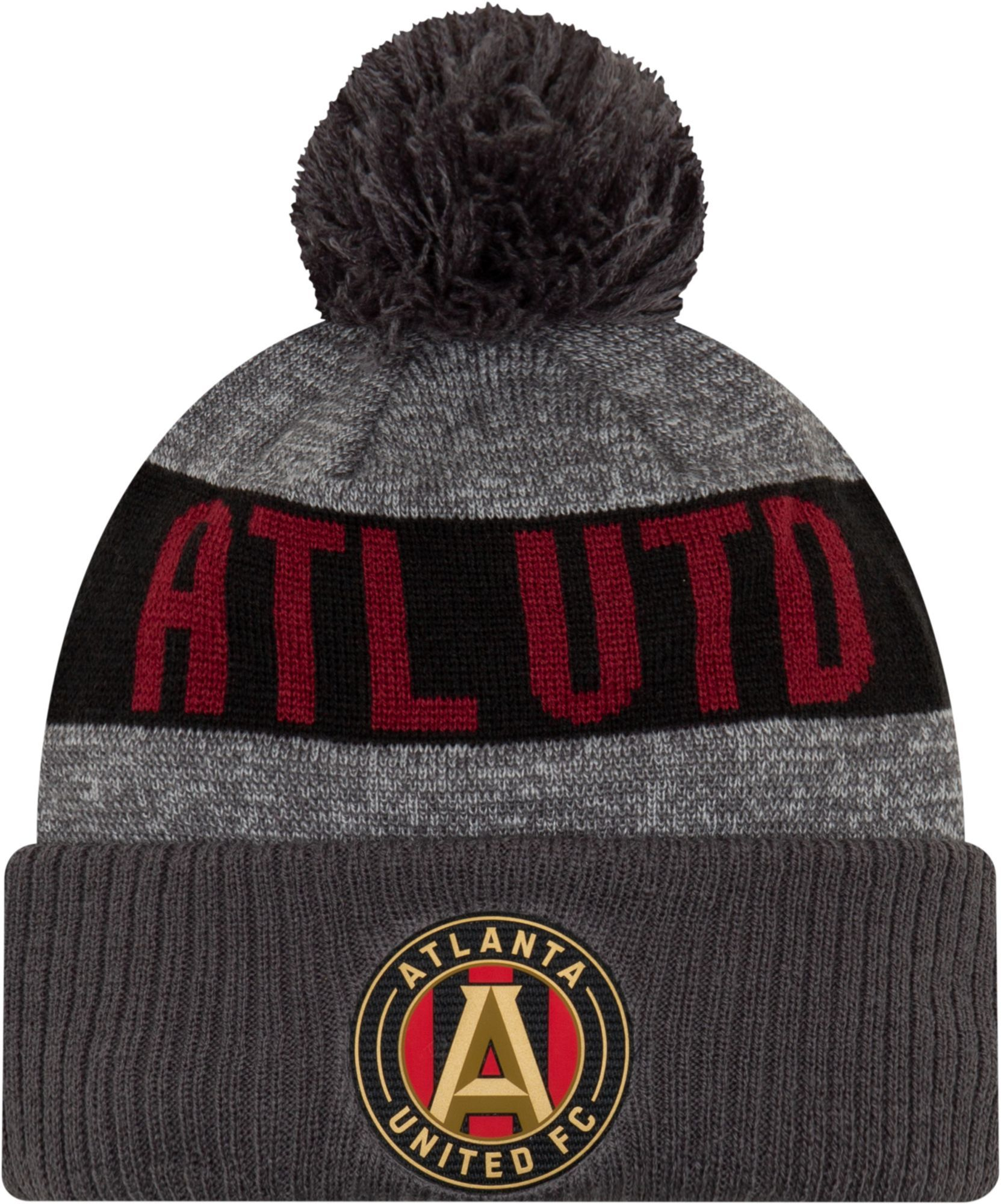watch d685b 0d210 MLS Men s Atlanta United Pom Knit Beanie, Gray