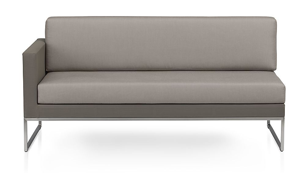 Dune Left Arm Loveseat with Cushions | Crate and Barrel