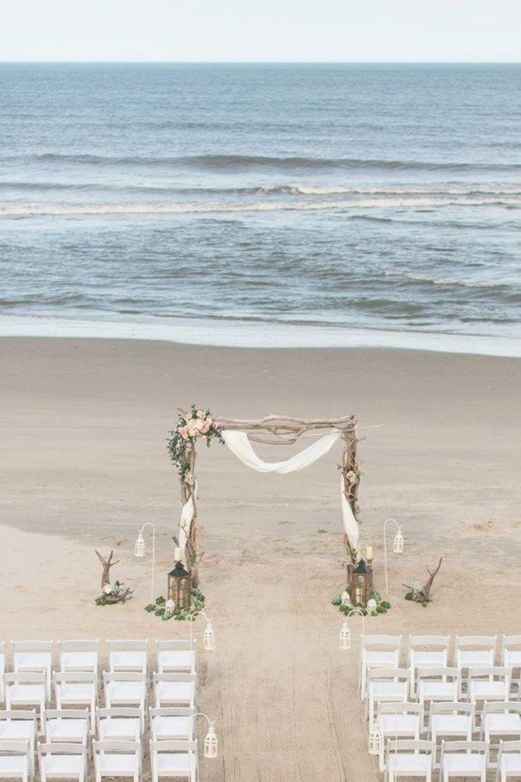 A Romantic Driftwood Beach Wedding Ceremony Arch To Die For Beach Wedding Ceremony Arches On Here Comes The Guide In 2020 Wedding Ceremony Arch Driftwood Wedding Traditional Wedding Vows