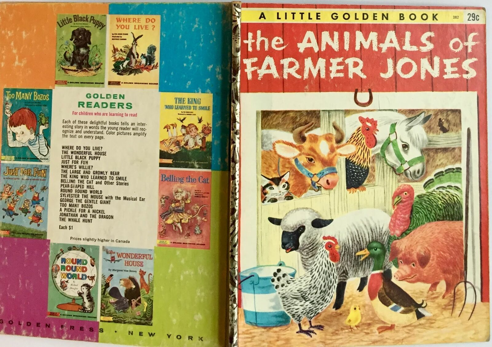 The Animals Of Farmer Jones Little Golden Book G