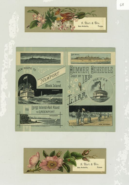 Trade cards depicting flowers and the Long Island Railroad summer schedule for 1880 depicting ships, beaches, Block Island, Greenport, Long Beach, Newport and New Rockaway. #summerschedule Trade cards depicting flowers and the Long Island Railroad summer schedule for 1880 depicting ships, beaches, Block Island, Greenport, Long Beach, Newport and New Rockaway. - NYPL Digital Collections #summerschedule