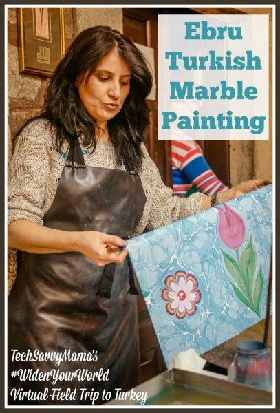 Ebru Turkish Marble Painting Learn all about this ancient art form in s Virtual Field Trip to Turkey