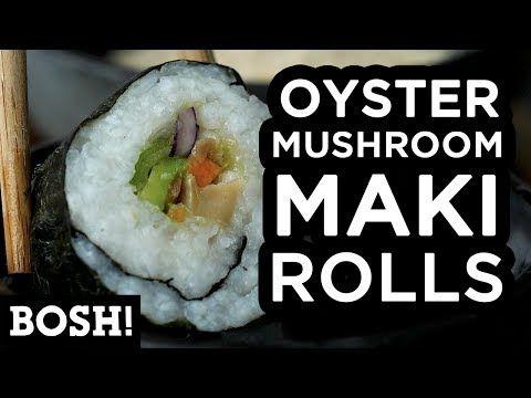 3 oyster mushroom maki rolls bosh vegan recipe youtube vegan recipe youtube sealessfood fishless sushi pinterest oysters rolls and mushrooms forumfinder Images