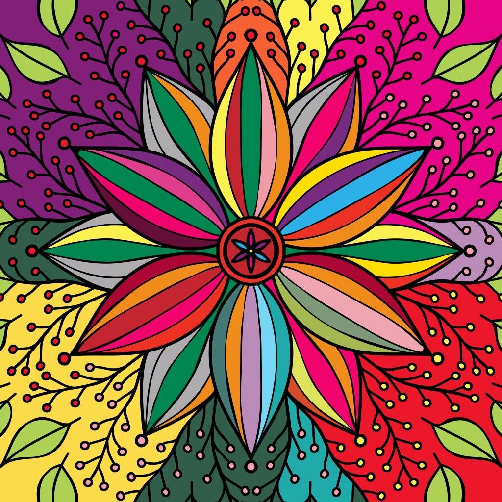 5d Diamond Painting Multi Colored Abstract Flowers Petals