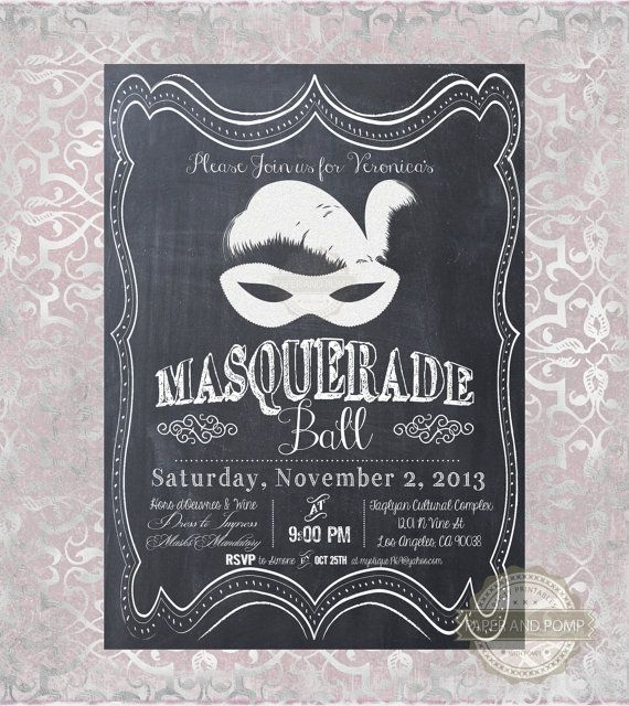 I would go nuts if I could get my wedding invites modeled after – Masquerade Party Invitations Free