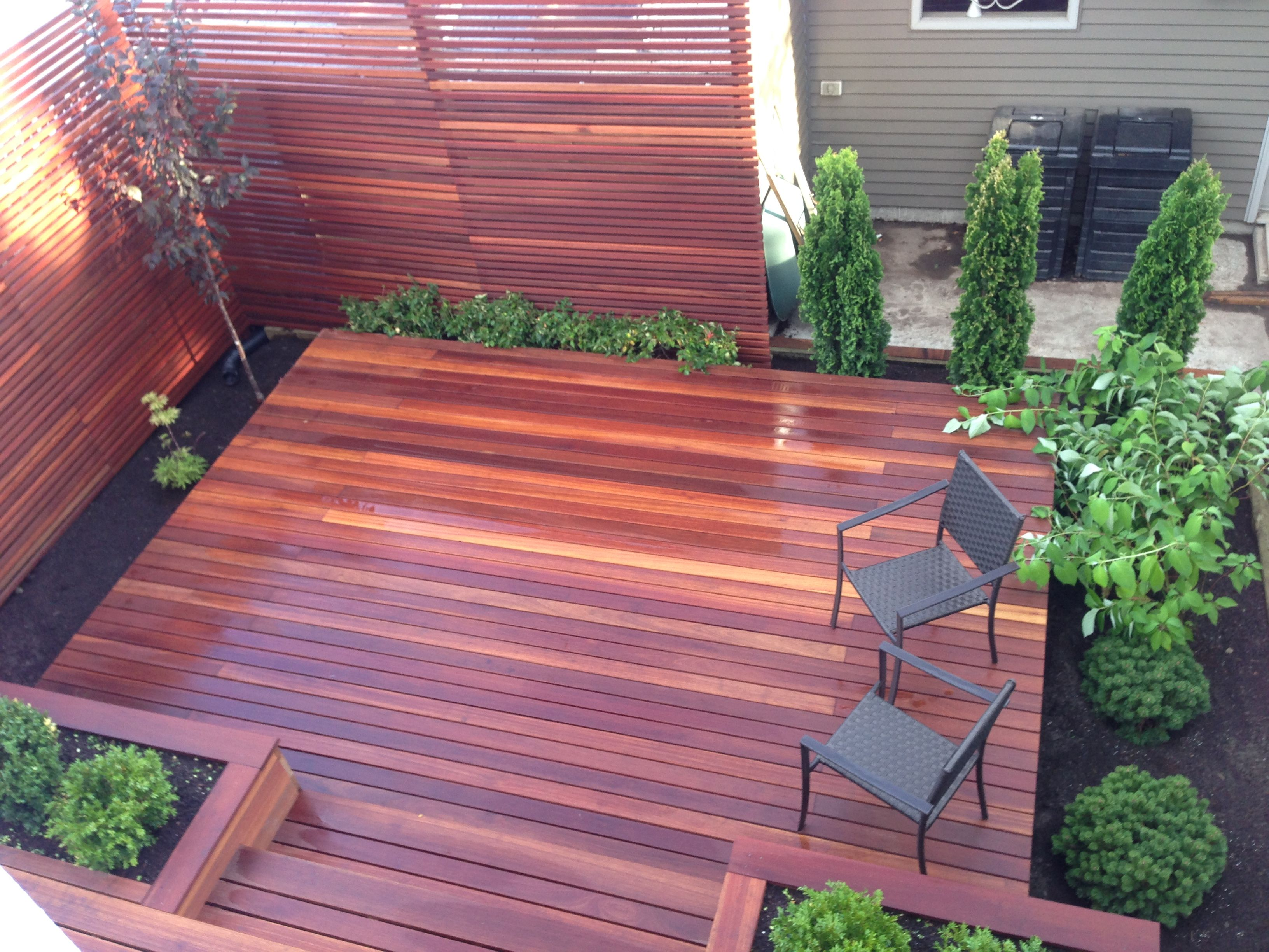 Red Balau Batu Decking And Matching Privacy Screen Supplied By