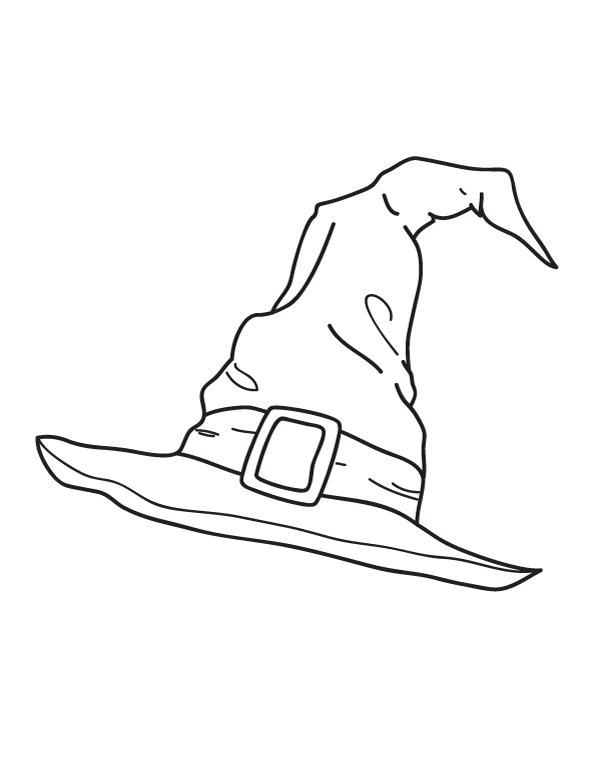 Free Printable Witch Hat Coloring Page Download It At Https Museprintables Com Download Colo Harry Potter Coloring Pages Witch Drawing Harry Potter Drawings