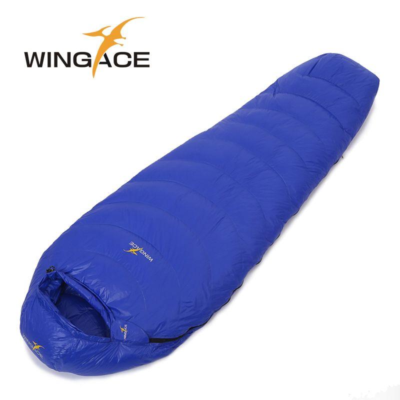 3aaa8679392 Fill 2500G 3000G 3500G Duck down saco de dormir winter sleeping bag WINGACE  -20 outdoor Camping Travel Hiking mummy Sleep Bag