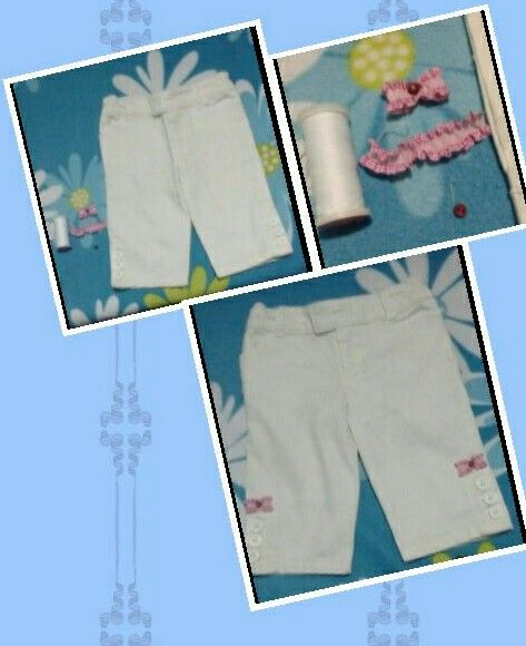 Customiza pantalón de niña con detalles simples.