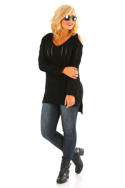 Perfect Harmony Sweater: Black
