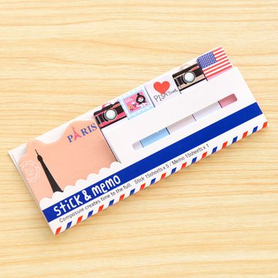 Usd2 55 Pleasant Supplies Co Paris Themed Sticky Bookmark Set Ships Worldwide From Canada