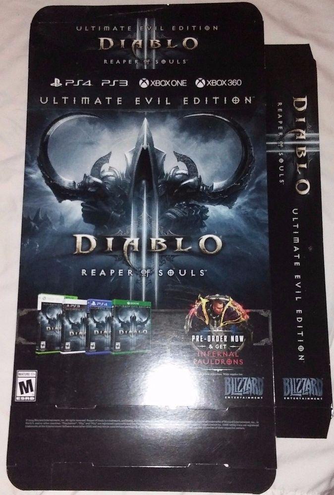 Diablo3 reaper of souls Gamestop display game box PS4 16 by 14 by