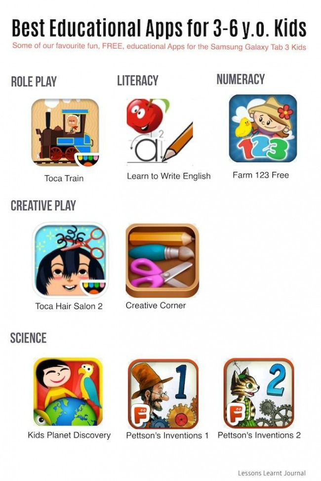 educational apps for 6 year olds