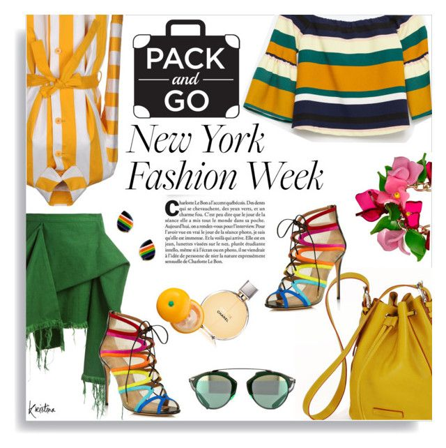 """""""Pack and Go NYFW"""" by kristina-susanto ❤ liked on Polyvore featuring Lahssan, Zara, Marques'Almeida, Salvatore Ferragamo, Chanel, Tony Moly and NYFW"""