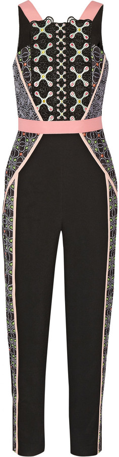 6536dd89b01a Peter Pilotto Atom Embroidered Crepe Jumpsuit
