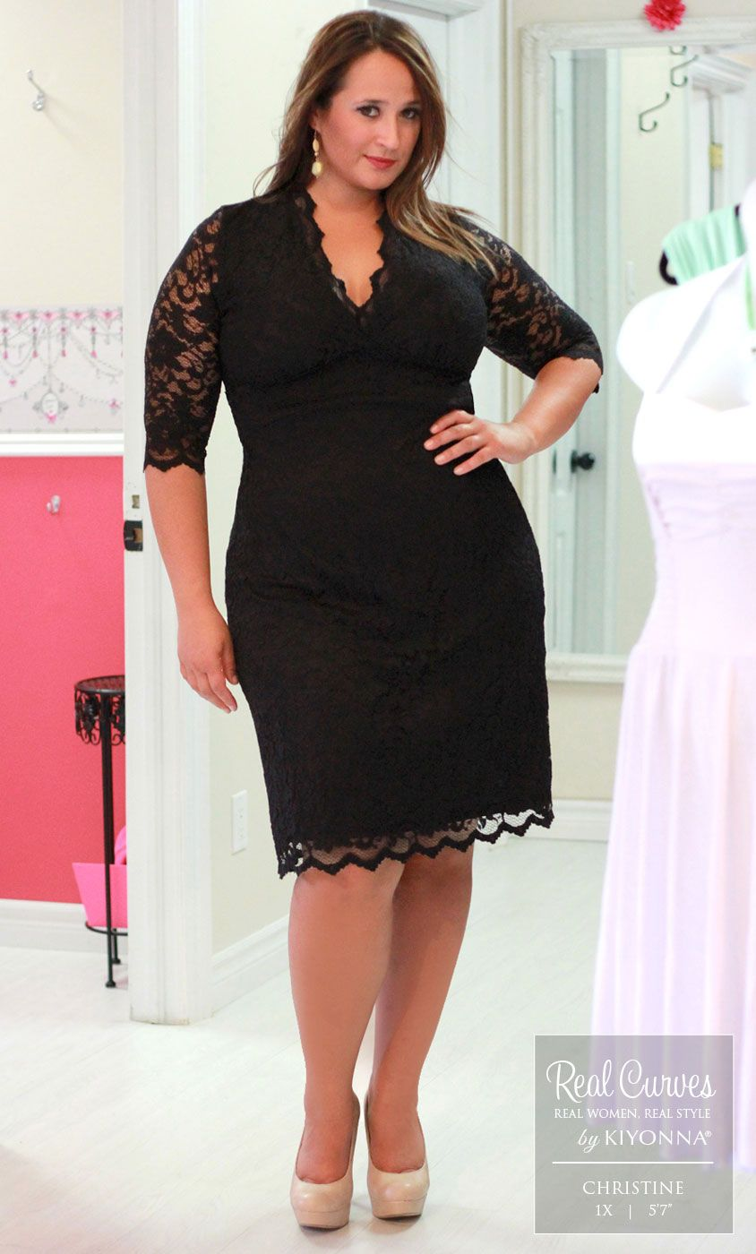 Scalloped Boudoir Lace Dress  Real Curves - 1X 1416 -5807