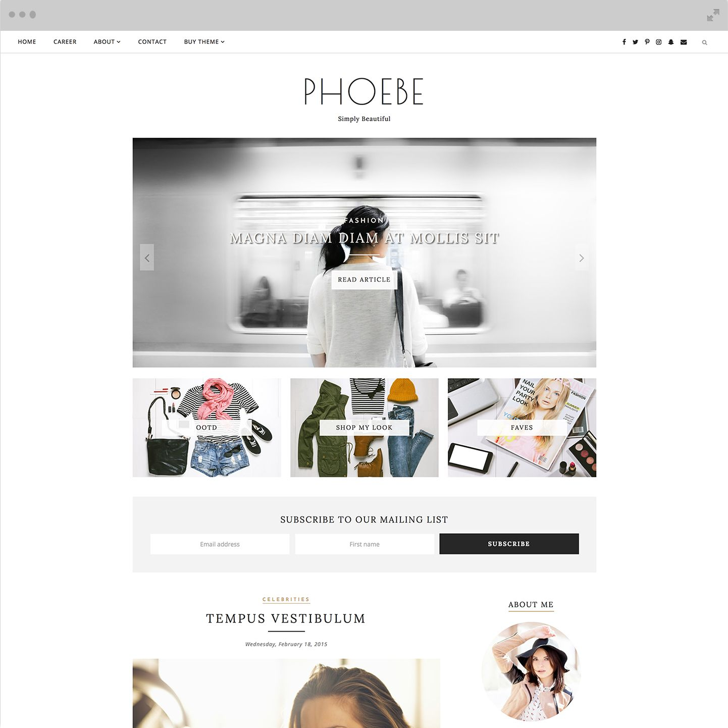 Modern Blogger Templates by | Georgia, Blogger themes and Template