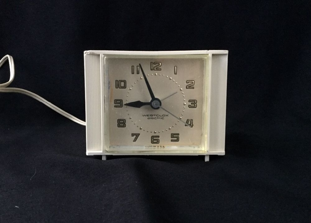 Vintage Westclox Electric Alarm Clock - Model S12-A - works