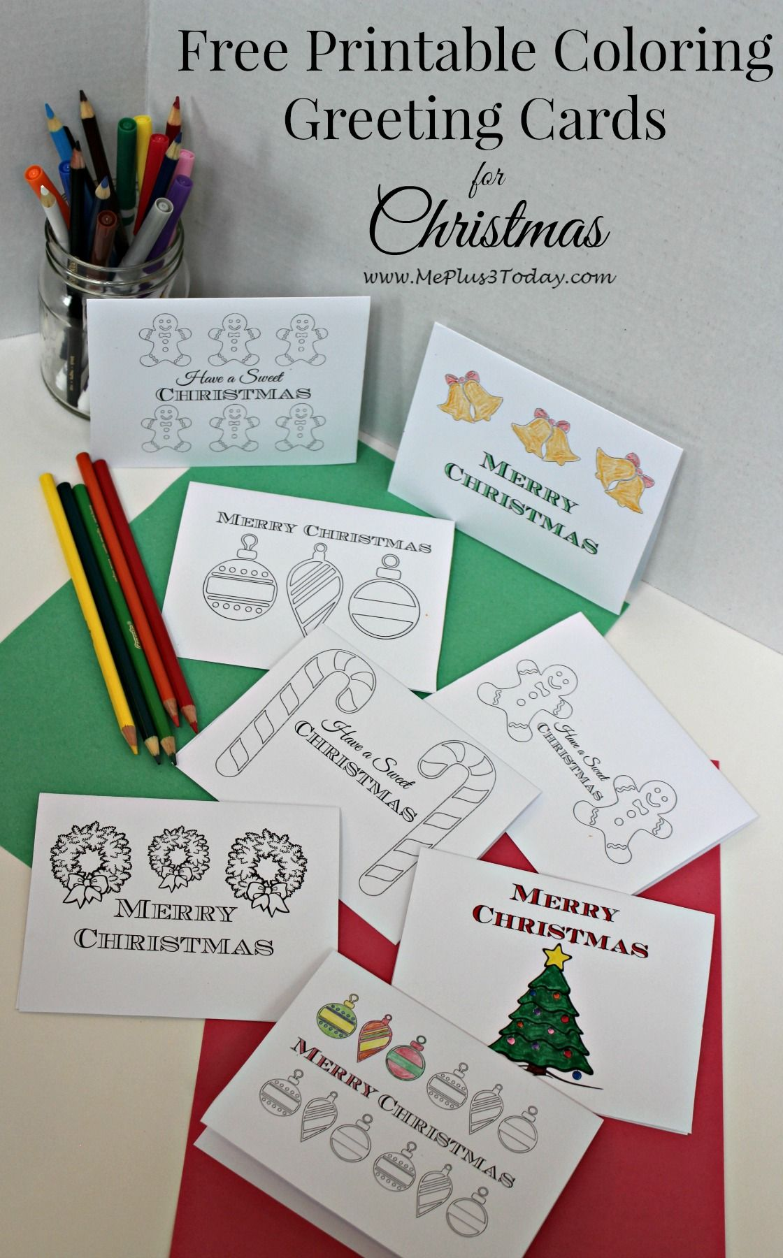 free printable christmas coloring pages these printable christmas greeting cards are the perfect way for your kids to spread cheer this holiday season