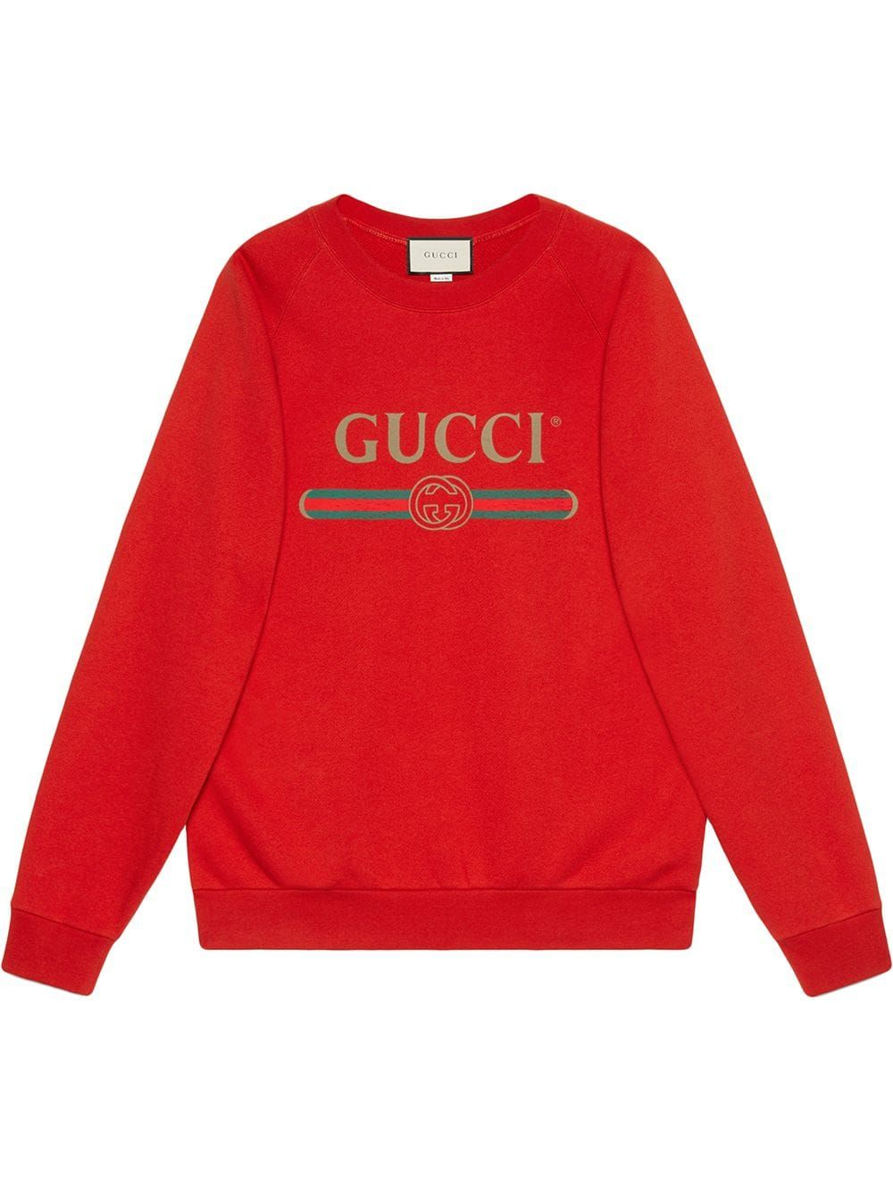 Gucci Oversize Sweatshirt With Sequin Patches Red Sweatshirts Oversized Sweatshirt Sweatshirts Women [ 1334 x 1000 Pixel ]
