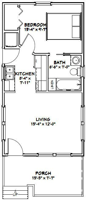 16x30 tiny house 16x30h1i 480 sq ft excellent for 16x30 house plans