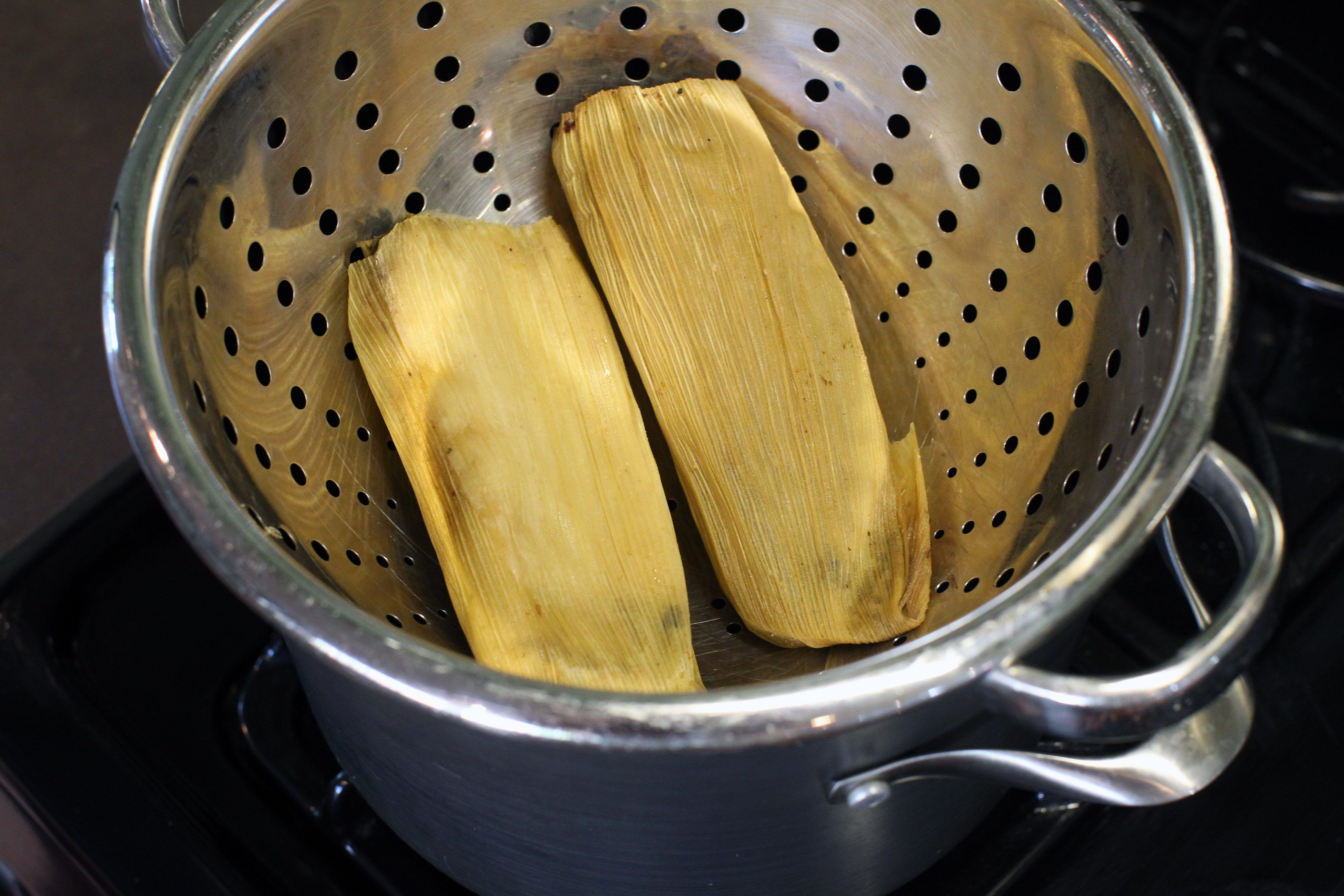 How To Steam A Tamale Without A Steamer Basket Tamales How To Cook Tamales Steaming Tamales