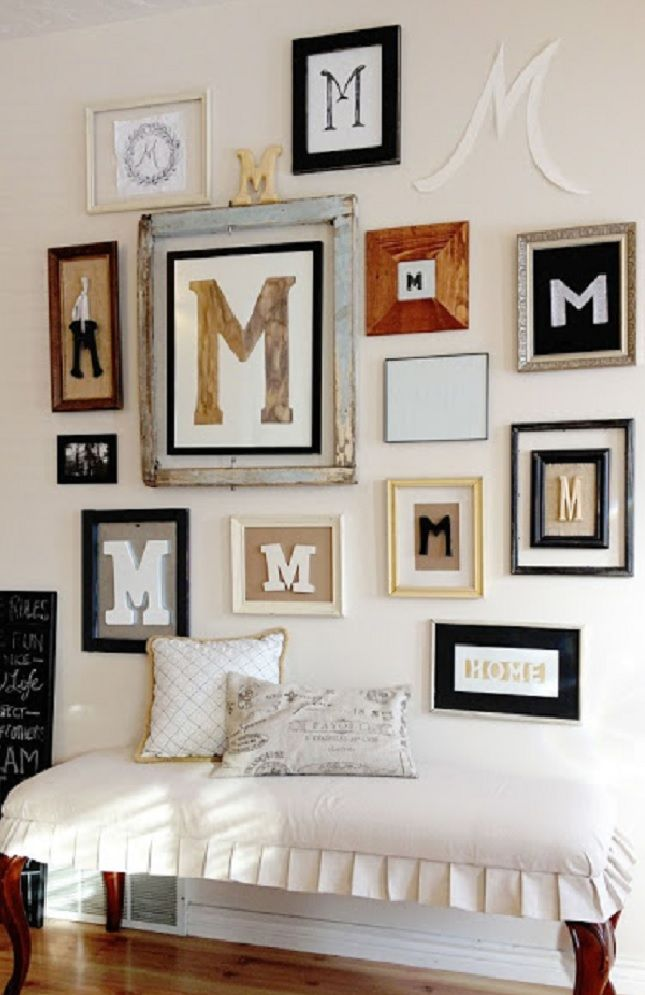 PERSONALIZING AN EMPTY WALL IS A FUN & INTERESTING WAY DECORATE BUT ...