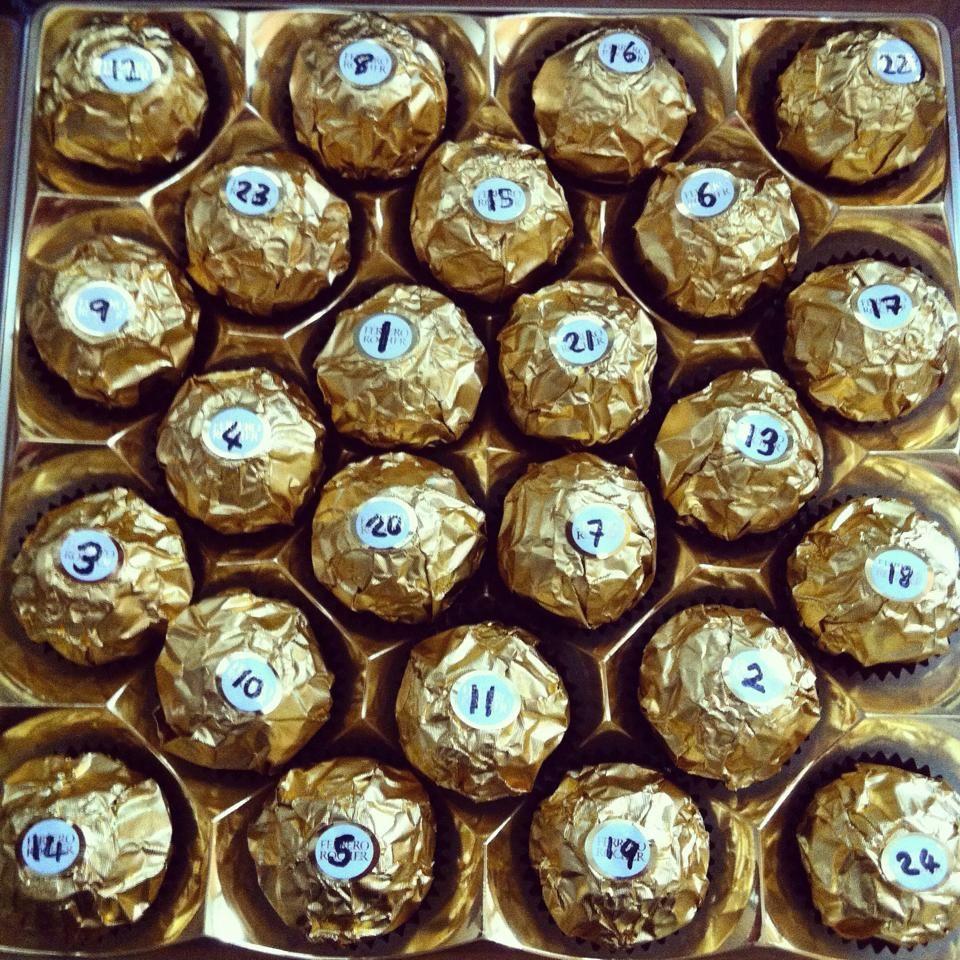 Weihnachtsdeko Ferrero.Diy Home Made Ferrero Rocher Advent Calendar Projects To Try