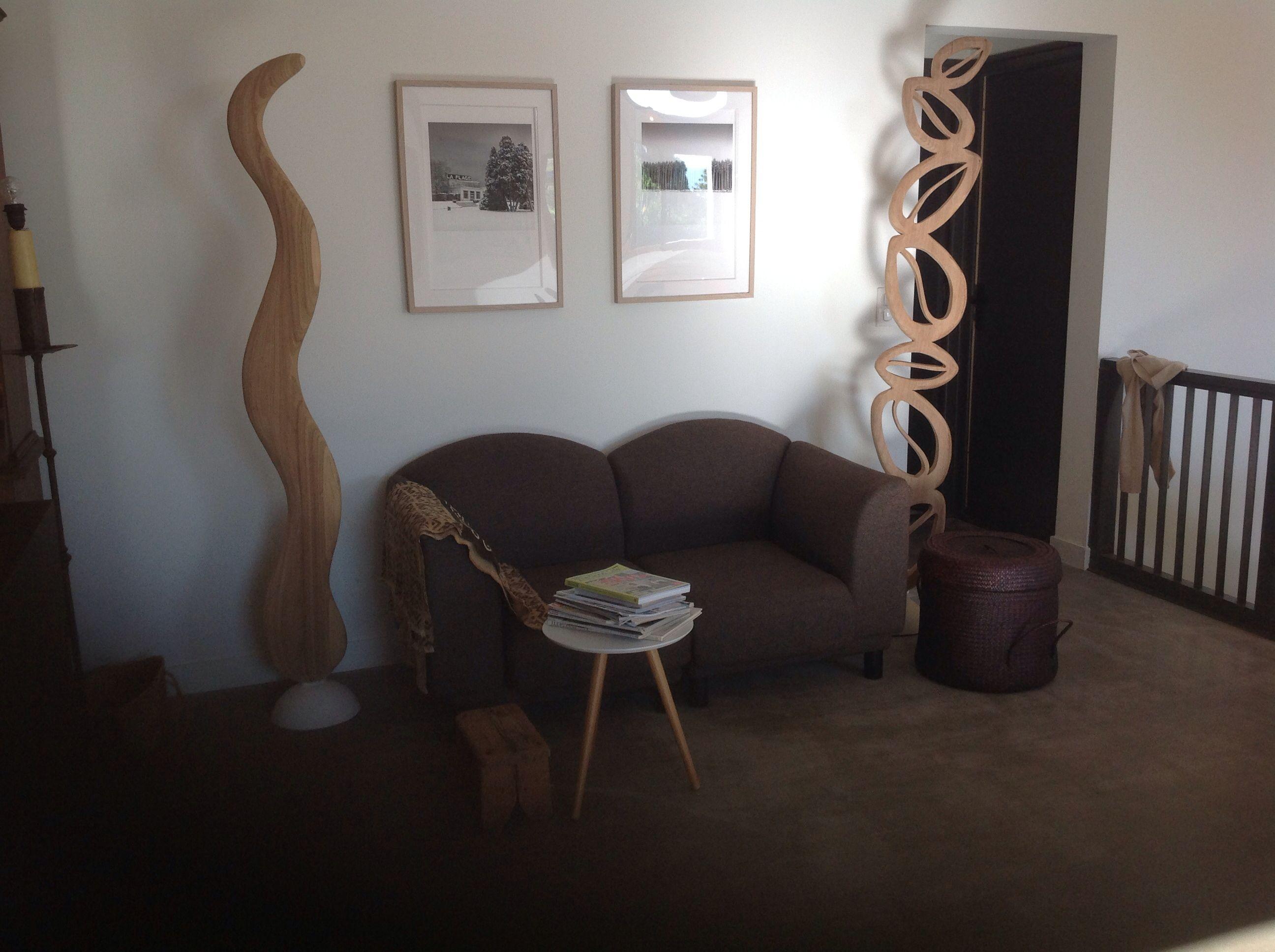 Iroko wooden sculptures, for inside or outside  Pierretraversat.comq
