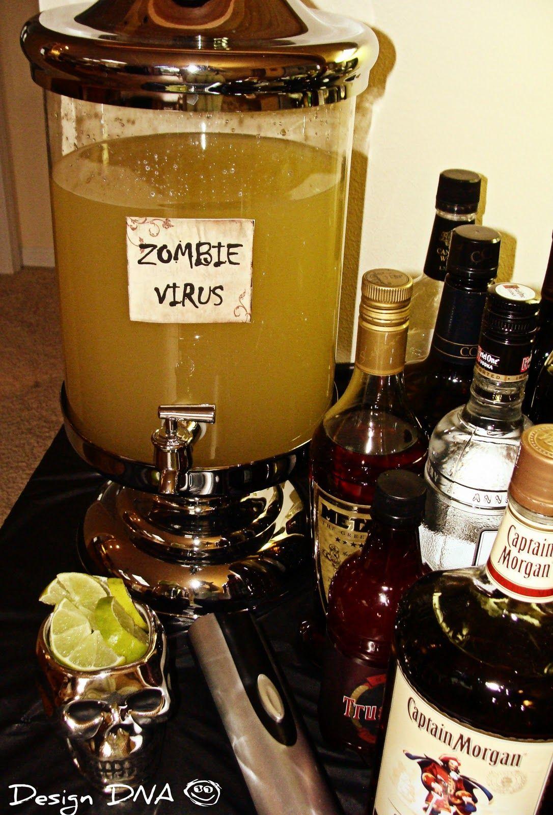 Zombie Virus Cocktail Zombie Party Pinterest