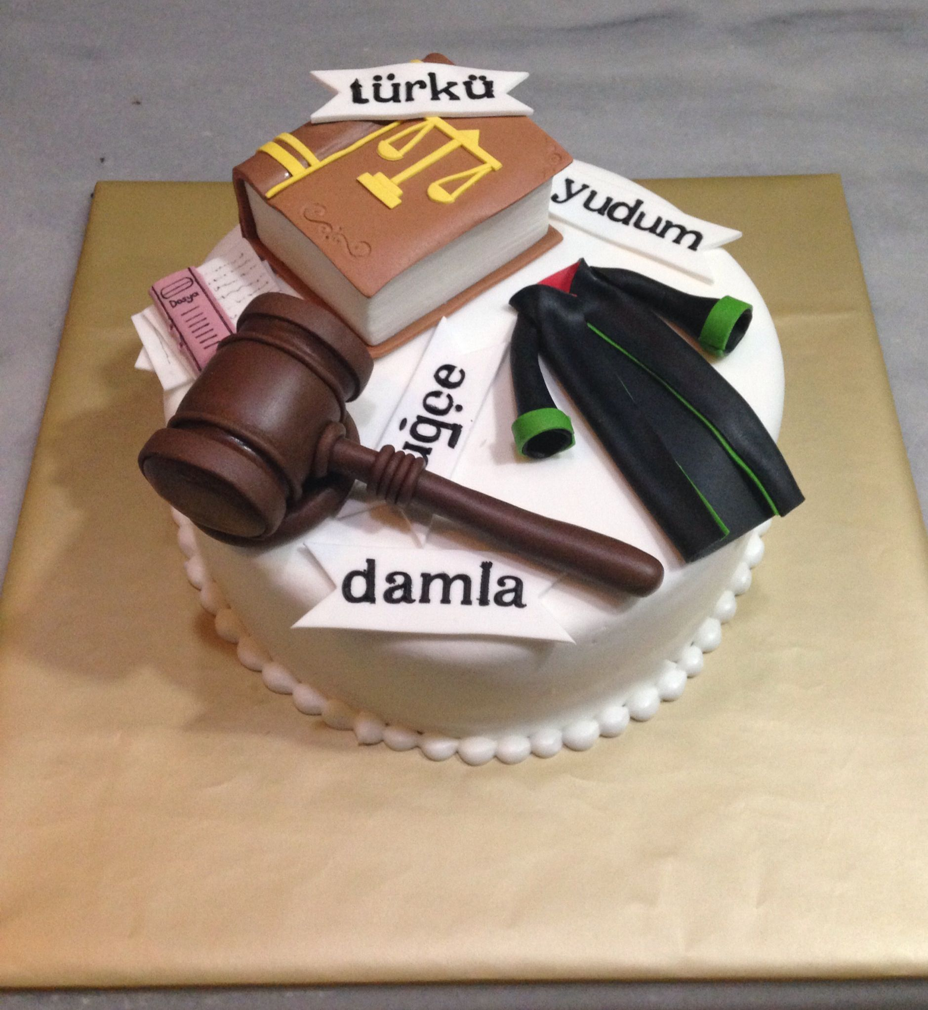 Lawyer Law Justice Birthday Cake