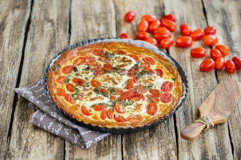 Tomaatti-vuohenjuustopiiras