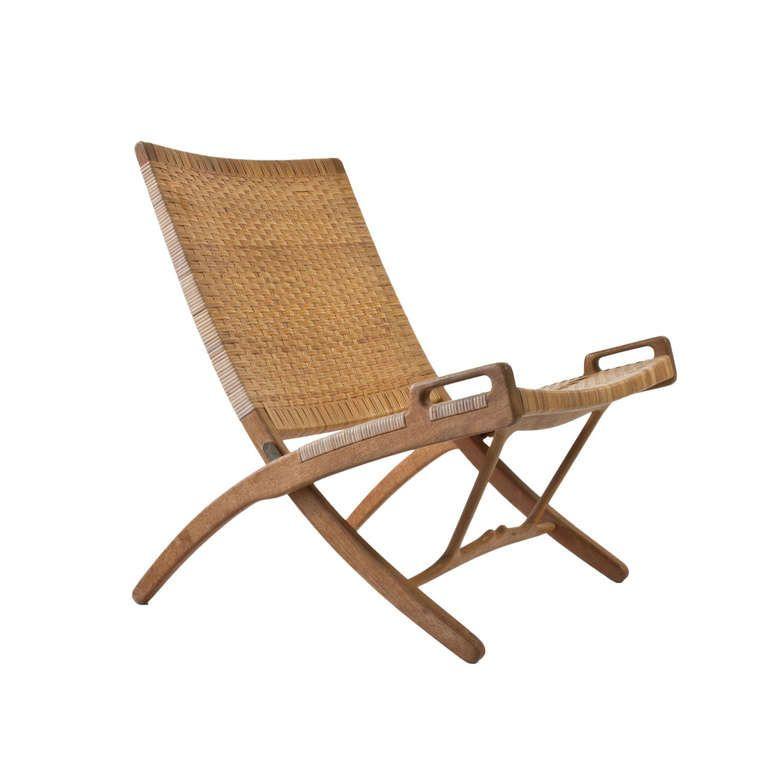 Hans j wegner folding chair for johannes hansen folding