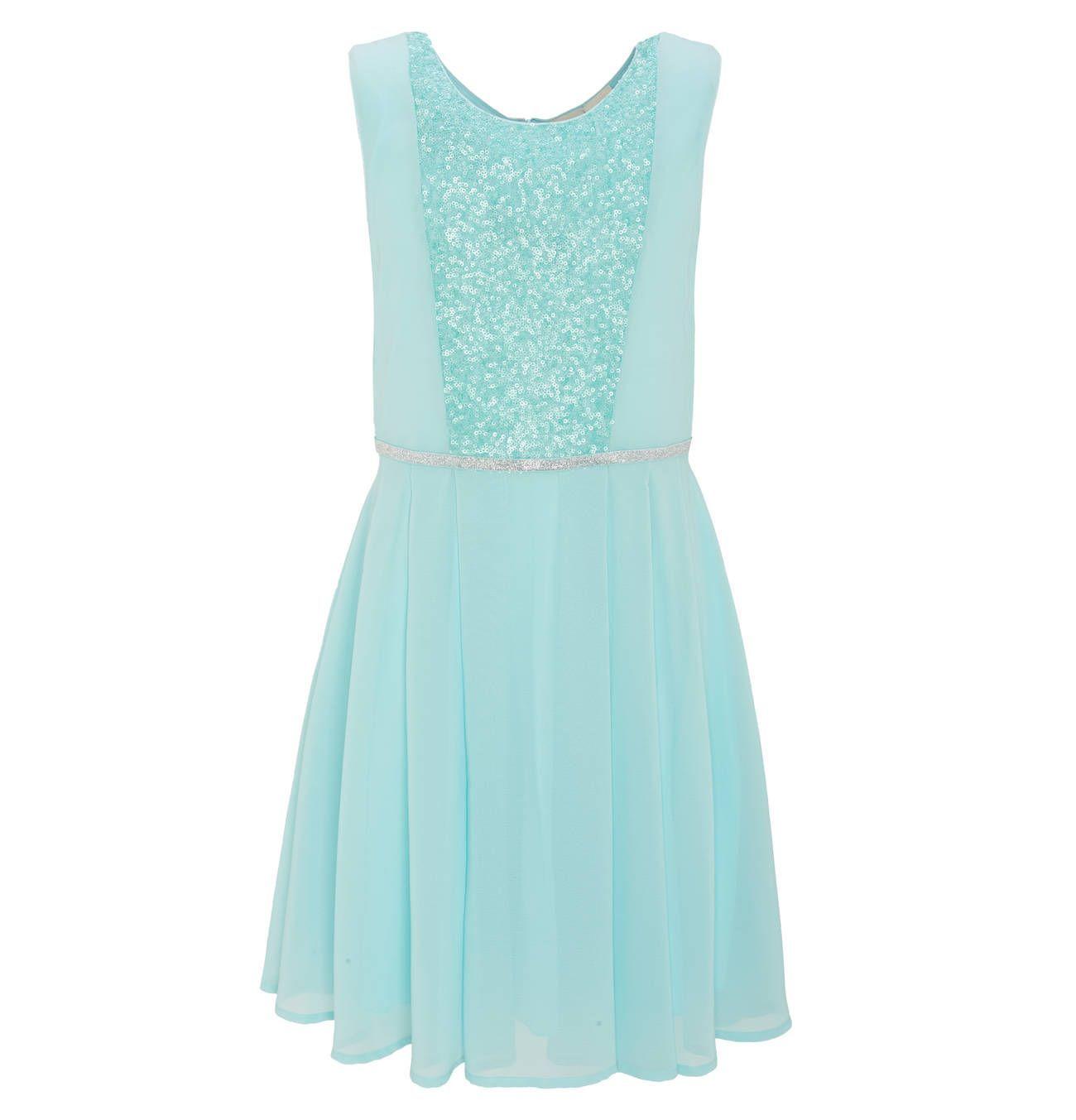 manguun teens Kleid, festlich, Pailletten, Taillen-Streifen in